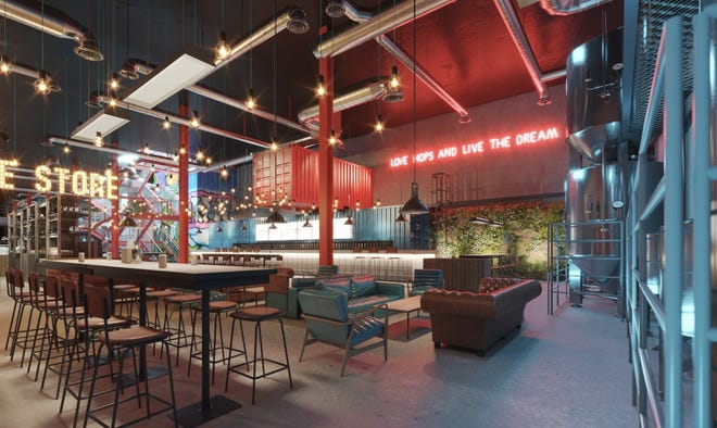 BrewDog's space above Showcase Mall will include an urban forest, onsite brewery, secret event space and retro game zone, the Scottish company announced on Twitter Thursday.