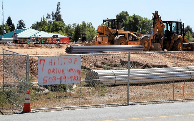 Work continued Wednesday, April 28, 2021, on what will be Shasta County's largest senior residential care campus. The Springs will be built on about 10 acres across the street from a car wash on north Hilltop Drive in Redding.