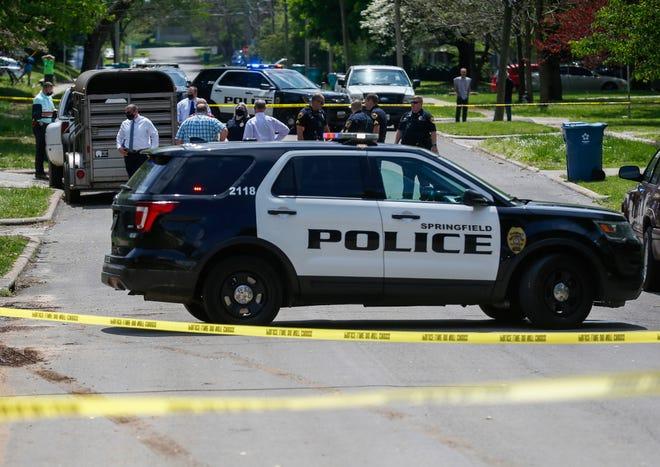 Springfield police investigate a shooting on North Kellett Avenue on Thursday, April 29, 2021.