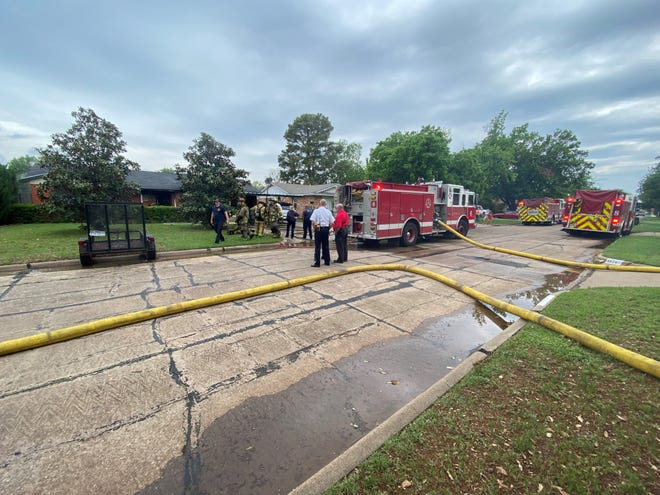 Wichita Falls firefighters were on scene at a house fire on Karla Street Thursday afternoon.