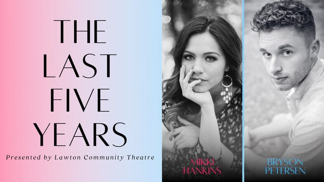 """Lawton Community Theatre's """"The Last Five Years"""" features Bryson Petersen as Jamie and Mikki Hankins as Cathy."""