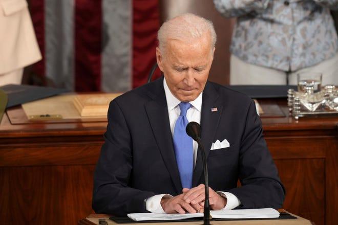 President Joe Biden speaks to a joint session of Congress on April 28, 2021, in Washington.