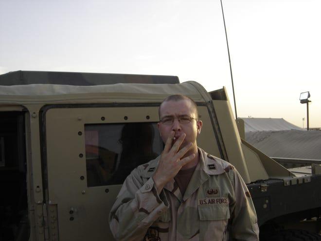 Brian Castner in the Udairi Training Range, Kuwait, in May 2006.
