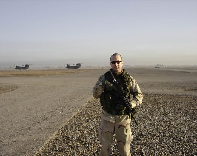Brian Castner in Camp Victory, Baghdad, in January 2005.