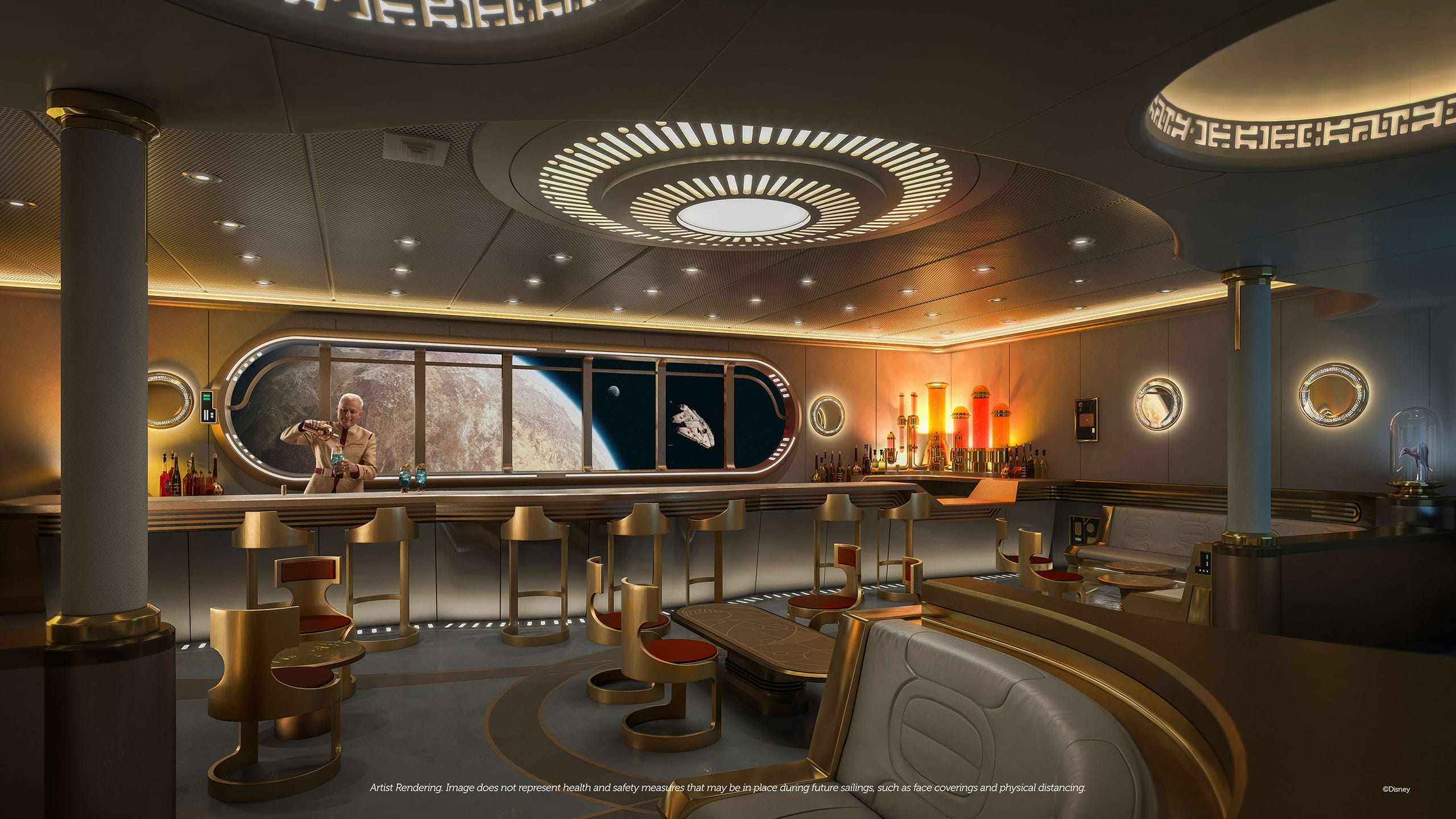 Disney Cruise Line Ship Features Star Wars: Hyperspace Lounge