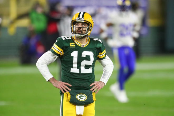 Aaron Rodgers was taken in the first round of the 2005 NFL draft by the Green Bay Packers.