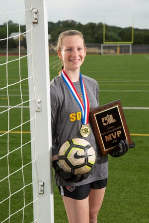 Dripping Springs goalkeeper Caroline Dill led her team to the Class 5A state championship and was named the game's most valuable player.