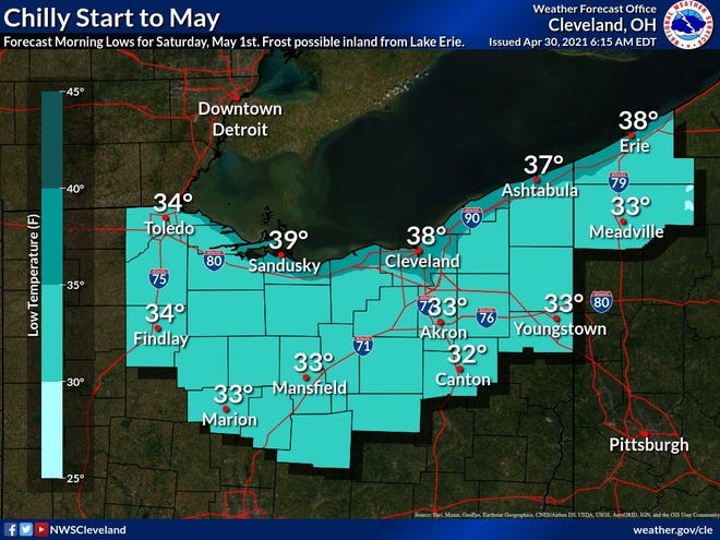 It will be a chilly start to May.