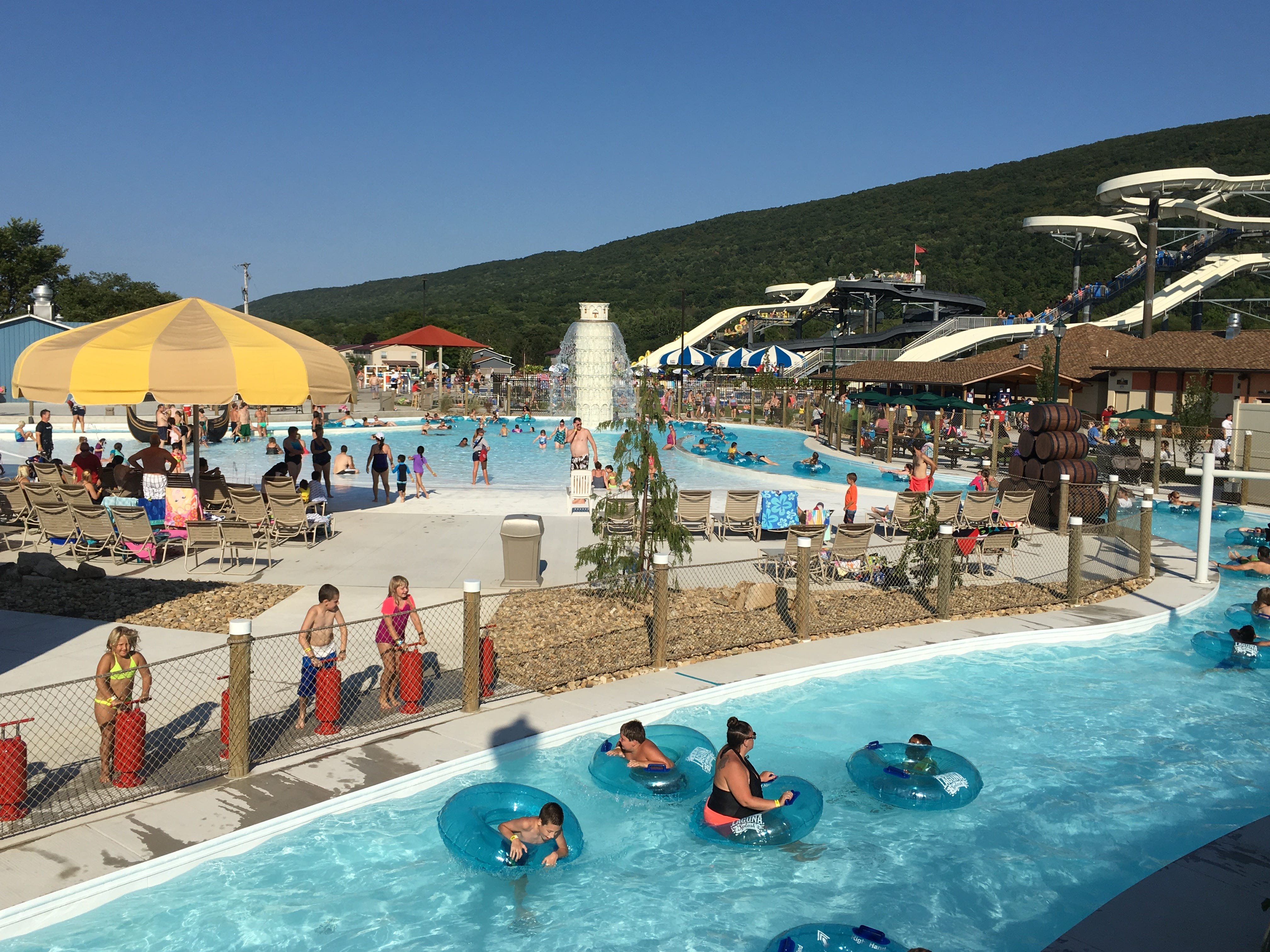 The lazy river at Laguna Splash Water Park at Delgrosso's Park is one of several water attractions available for guests this season.