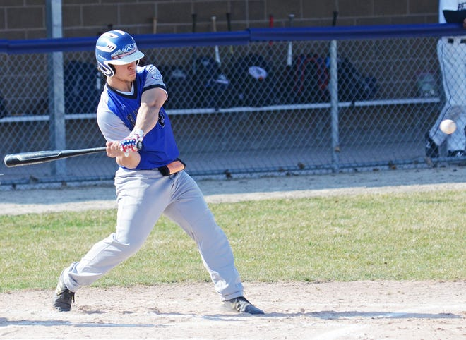 Grant Blumke and the Inland Lakes varsity baseball team earned an impressive Ski Valley doubleheader sweep at Gaylord St. Mary on Thursday.