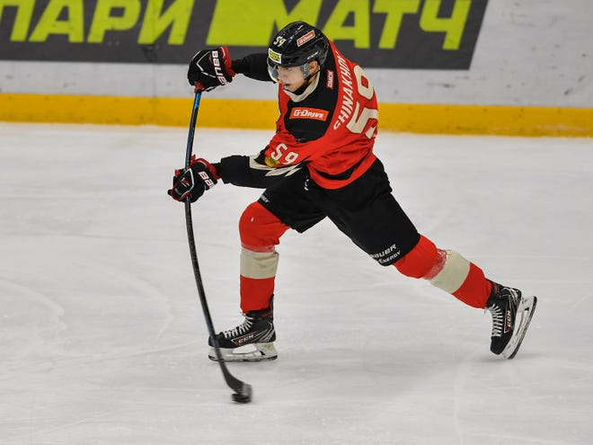 Egor Chinakhov plans to sign his first NHL contract soon with the Blue Jackets, who selected the Russian forward in the first round of the 2020 NHL draft. Chinakhov, a rookie in the Kontinental Hockey League this season, helped Avangard Omsk win that league's Gagarin Cup championship this week.