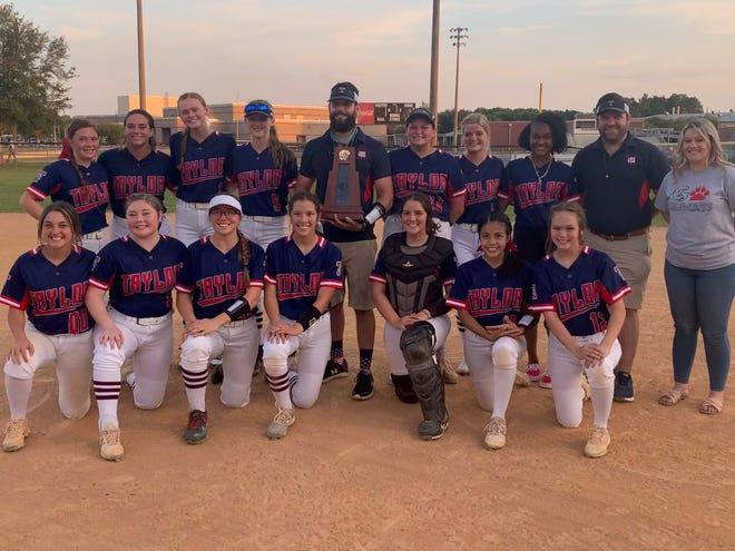 Taylor High softball team, 2021 district champs.