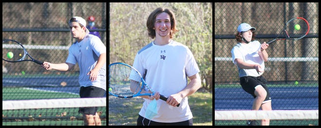 Doing battle for Delaware Valley are seniors Max Plotkin (second singles) Jack Moniot (first singles) and junior Gavin Buckley (third singles.) Closing in fourth place in the PIAA District 2 AAA standings, the Warriors now head to the playoffs starting on May 3.
