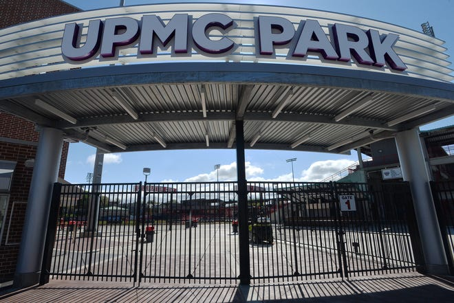 The new entrance to UPMC Park, shown on Friday, will soon be open for the upcoming Erie SeaWolves season in Erie.