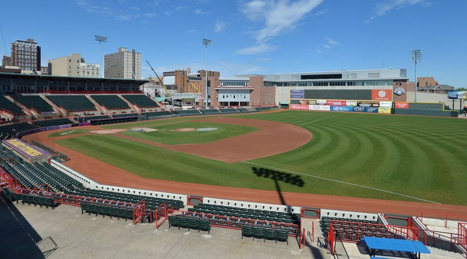 Newly renovated UPMC Park, shown on April 30, 2021, will be the site for the Erie SeaWolves' home opener on Tuesday against Akron.