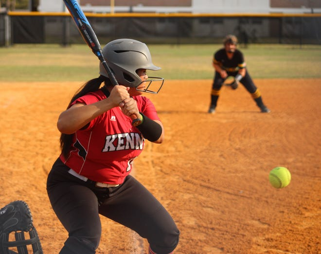 Bishop Kenny junior Alleana De Leon went 4-for-4 with two doubles in the Crusaders' victory over Yulee.