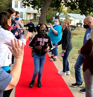"Teachers and staff at Houston Elementary rolled out the red carpet for students on ""Rock Your School"" day, which featured a grand welcome to campus followed by a day of special treats, activities and celebrations."