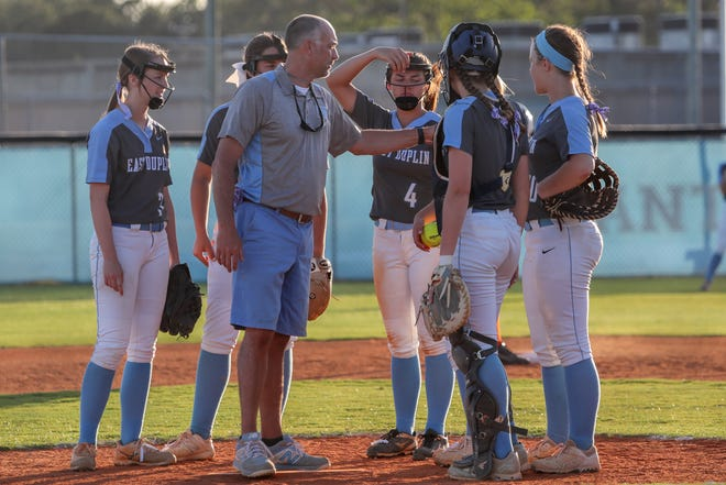 East Duplin coach Greg Jenkins earned career win No. 300 on Thursday night. The Panthers have never had a losing record in his 20 years as coach. [Tina Brooks/The Daily News]