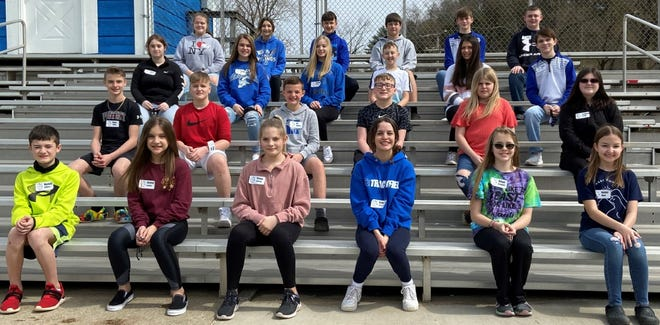 RMS new Natural Helpers trainees are: Row 1, Kaden Jeffers, Alyssa Jordan, Chloe Slaven, Aubrey Cox, Rihya Bennett and Jenna Wyer; row 2, Ryan Tolley, Parker Keller, Eli Jenkins, Braden Sias, Zoey Boggess and Isabella Smith; row 3, Lacey Counts, Alyssa Kay, Shelby Keefer, Austin Donohew, Callie Bonecutter and Ethan Kay; row 4, Baylee Hall, Tiffany Fisher, Landon Meadows, Chris Patterson, Carter Neal and Noah Freshour. Absent: Adrian Shaver.