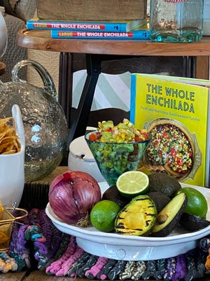 "Grilled Avocado Salad is featured in the cookbook, ""The Whole Enchilada."" Filled with fresh vegetables, it's a perfect dish to make as barbecue season picks up."