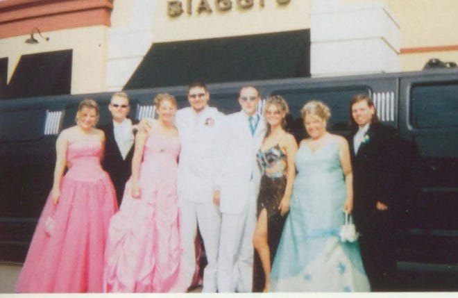 Pictures of the Past is from the 2006 Lincoln Community High School yearbook.  The photo shows a group of students prior to the Prom. From left are: Marjoire White, Kevin Erickson, Dusty Montgomery, Ryan Wilson, Justin Crowell, Michelle Tripplett, Danielle Snyder and Jeremy Caldrilo who stop for a photo near the limo.