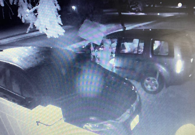 Thief steals 40 pairs of lacrosse team shorts in Canton's Harter Heights neighborhood overnight. The theft was caught on home surveillance video.