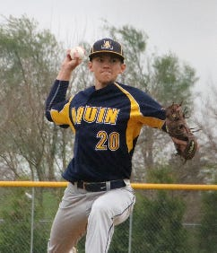 Ty Stykel is one of the top pitchers for Aquin, which is favored to win the NUIC North baseball title.