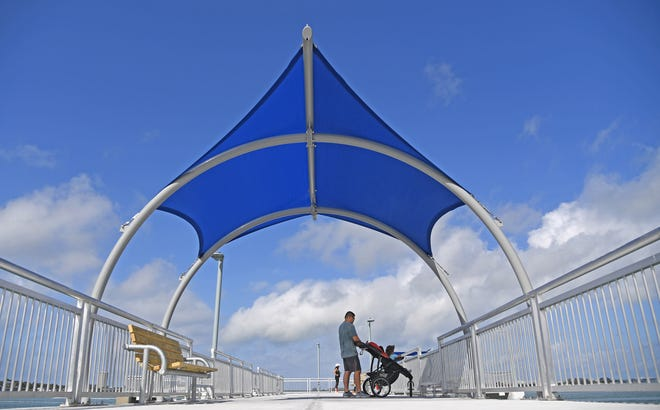 The 42-year-old Tony Saprito Fishing Pier, which begins at the northeastern end of the John Ringling Causeway, is now open after its major $1.4 million upgrade and improvement project.