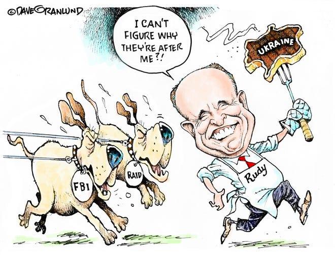 Granlund cartoon: FBI raids Rudy. Dave Granlund cartoon on Rudy Guiliani being raided by the FBI.
