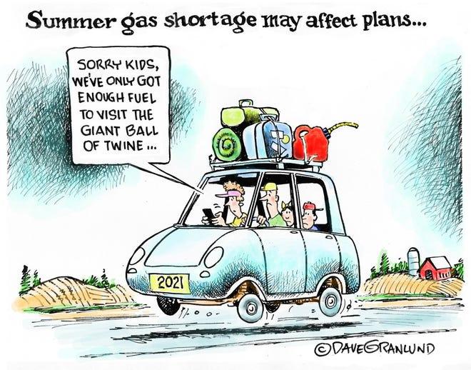 Granlund cartoon: Summer gas shortages. Dave Granlund cartoon on Summer gas shortages.