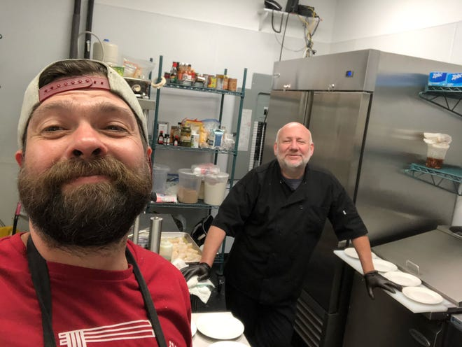 Shaun Nelson (left), and Shawn Underwood (right) and Amy Siler are working on a special event to take place Wednesday, May 5 at Soif de Vin in Monkey Junction.