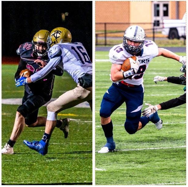 Old Colony's Ryan McGuiggan and Apponequet's Kevin Hughes were Co-Players of the Week for football