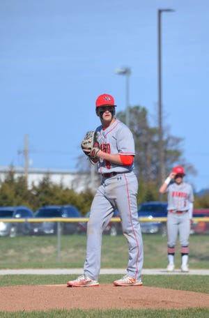 Wamego's Ryan Erickson is 4-0 with a 1.34 ERA this season in leading the Red Raiders to a 10-4 record.