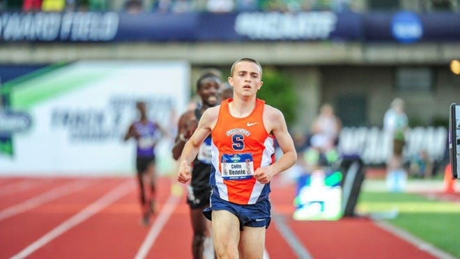 Colin Bennie, shown here running in the NCAA 10,000 meters while at Syracuse, is striving for a berth at the U.S. Olympic Trials.