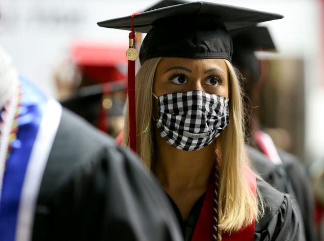 The University of Alabama will send more than 6,000 graduates across the stage in 10 graduation ceremonies this weekend. The College of Communication and Information Services was the first school to graduate Friday, April 30, 2021. [Staff Photo/Gary Cosby Jr.]