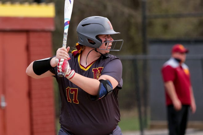 Through 17 games, Emily Jones led the power-hitting North softball team with a .418 batting average, four homers and 16 RBI. She also had scored 15 runs.