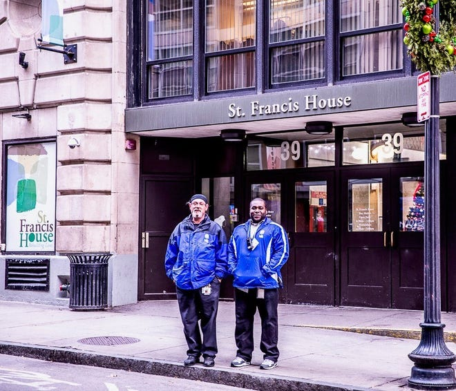 The St. Francis House in downtown Boston where Chef Seth Green of Weymouth (left) and his colleague work is the largest daytime shelter in Massachusetts. [Courtesy Photo]