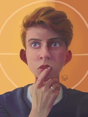 """Self,"" digital painting"