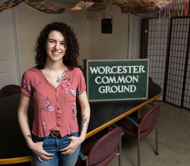 Eleanor Gilmore of Worcester Common Ground located at 5 Piedmont St. in Worcester.