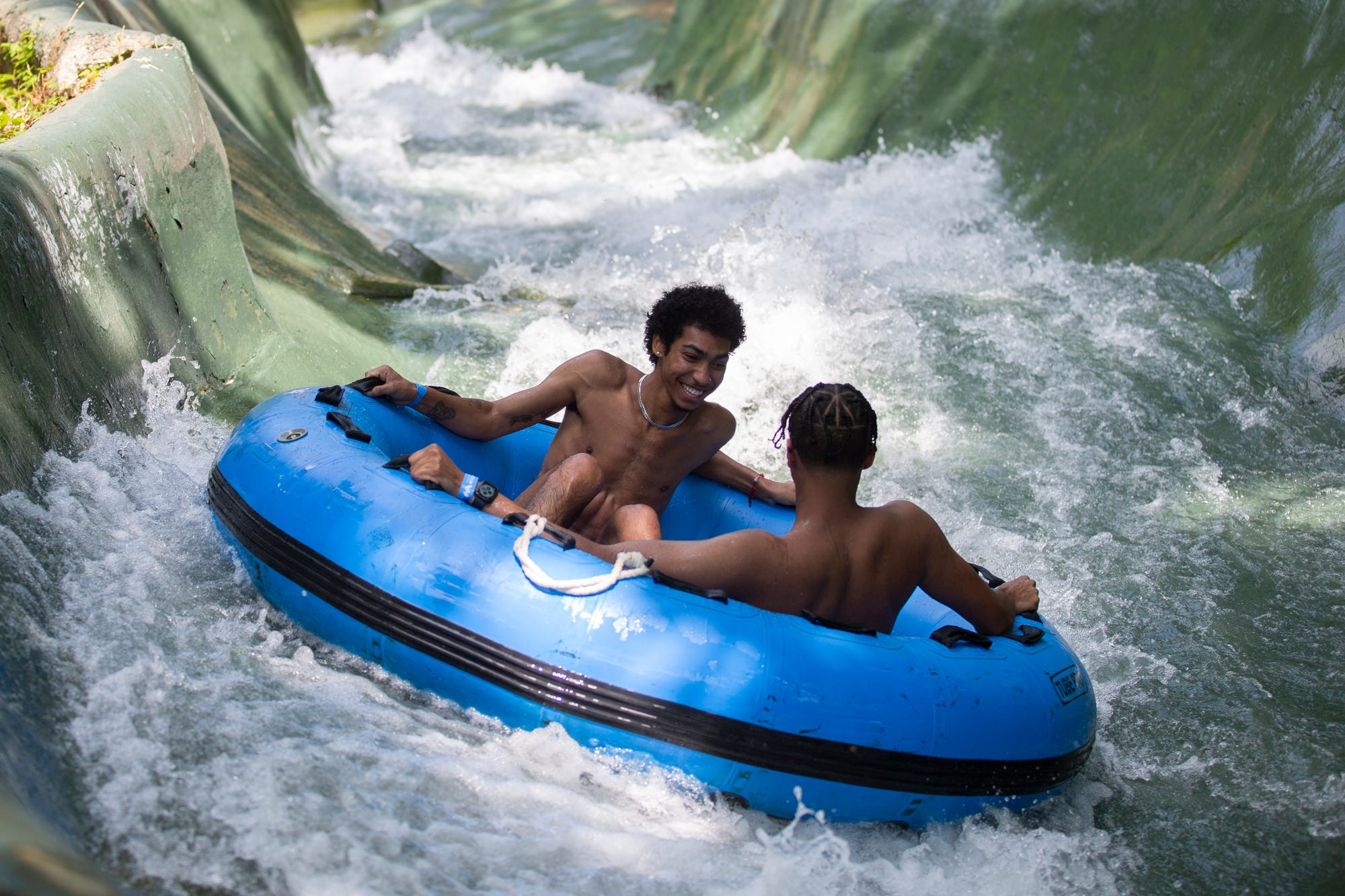 Guests pictured at Mountain Creek Waterpark in Vernon during the 2020 season.