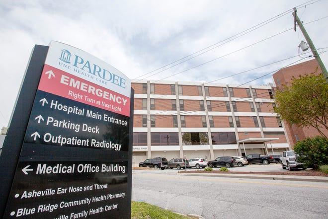 Pardee Memorial Hospital in Hendersonville April 29, 2021.