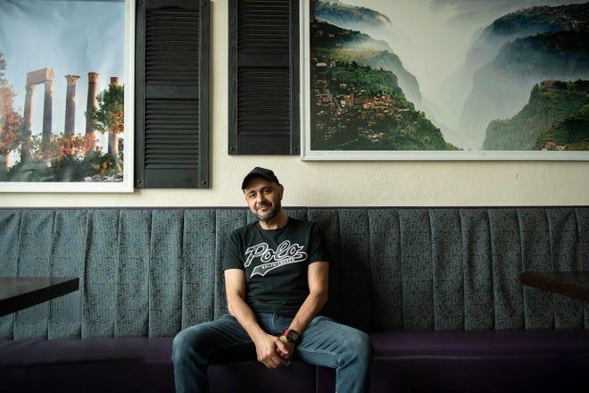 Osama Jadalla, owner of Blue Fig Cafe in Moorestown, N.J.
