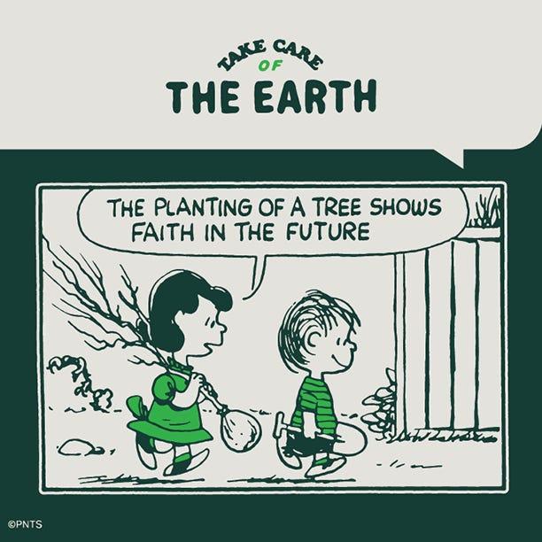 Take Care Earth Arbor Day comic