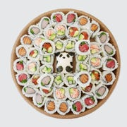 The panda sushi platter from the Goblin, $45, includes six raw rolls and can be ready to pick up in as little as 20 minutes.