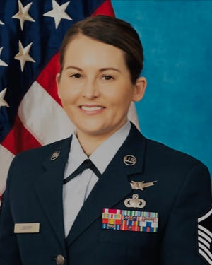 US Air Force Master Sergeant Michelle Lowery. A Lancaster native stationed at Fort Meade in Maryland, Lowery has been selected for promotion to senior master sergeant.