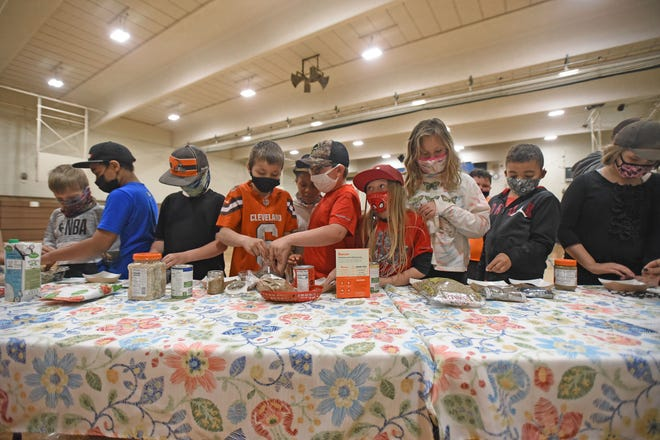 Third grade students at Madison South Elementary School got an opportunity to sample a variety of seed-based foods Friday during the school's Earth Day celebration.