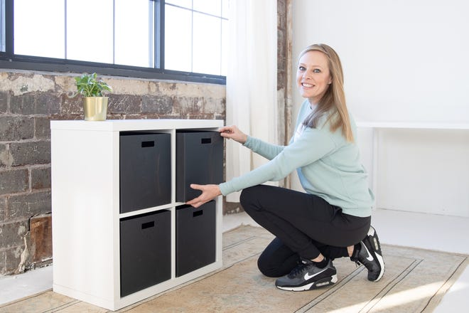 Britt Blackwelder, owner and professional organizer at The Brittish Way, helps homeowners in the Greater Milwaukee area organize their garages and take care of possessions.