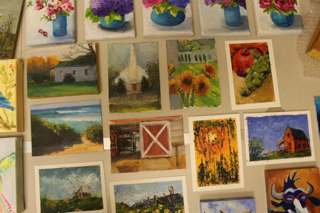 Dozens of pieces of art will be for sale on May 7 at the Pike Road Arts Center during the 5 x 7 Art Show & Sale.