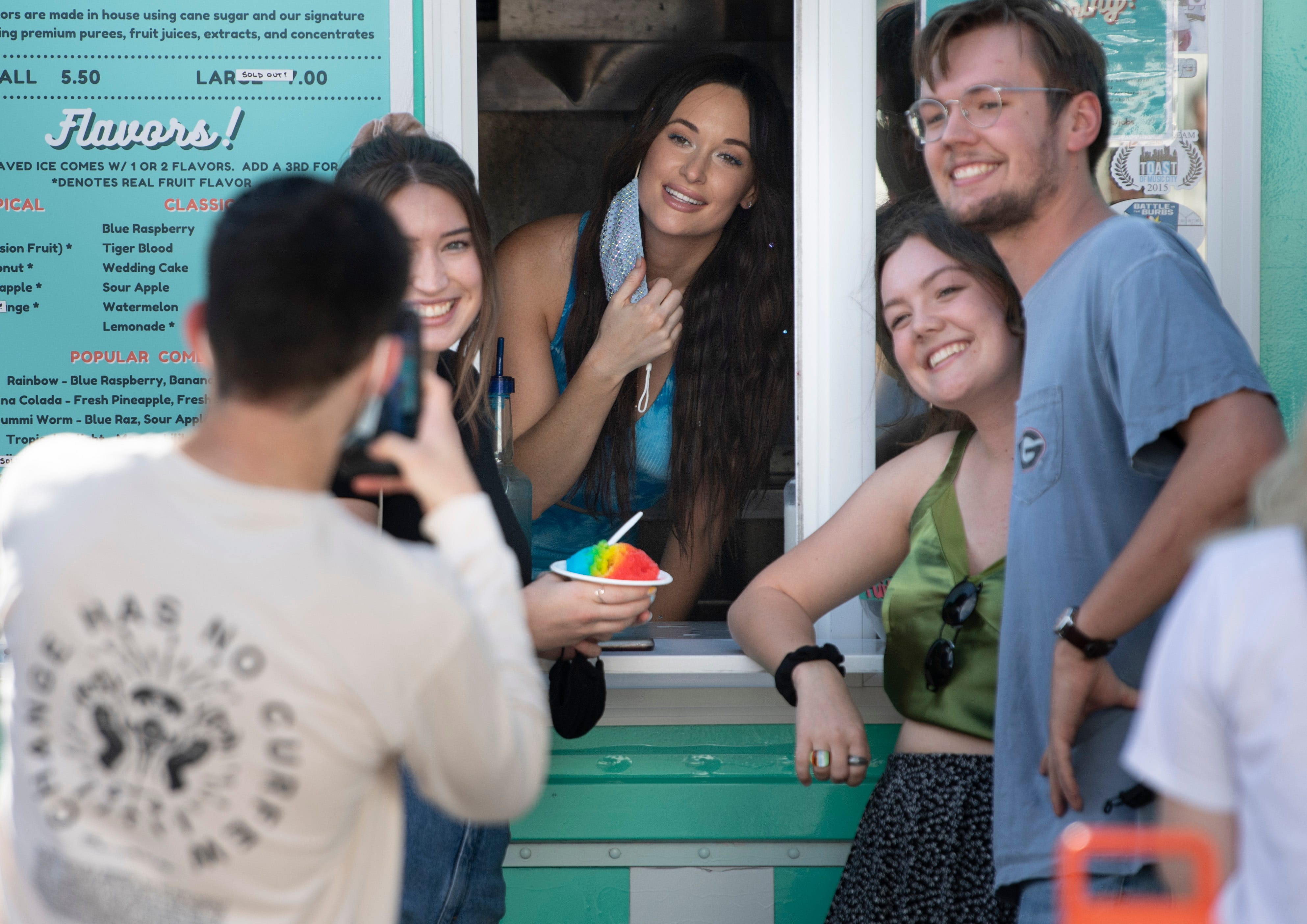 Kacey Musgraves fulfills  lifelong dream  of working at a snow cone stand