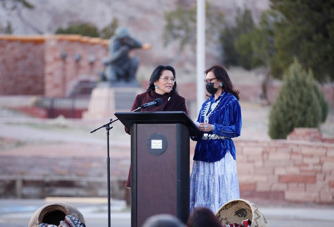 Navajo Nation second lady Dottie Lizer, left, and Navajo Nation first lady Phefelia Nez have launched a new online series that examines the issue of illegal dumping on the tribal land.